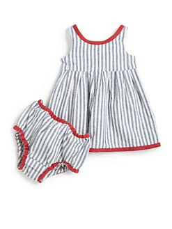 Ralph Lauren - Infant's Denim Striped Dress & Bloomers Set