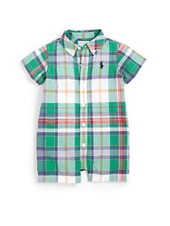 Ralph Lauren - Infant's Madras Plaid Shortall