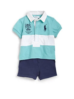 Ralph Lauren - Infant's Two-Piece Striped Rugby Shirt & Shorts Set