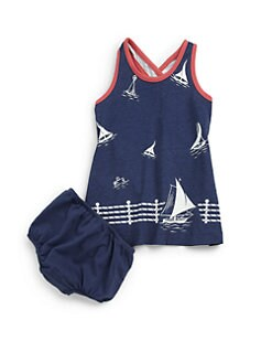 Ralph Lauren - Infant's Sailboat Dress & Bloomers Set
