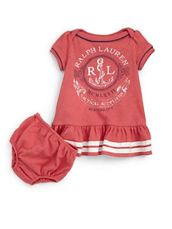 Ralph Lauren - Infant's Nautical Dress & Bloomers Set