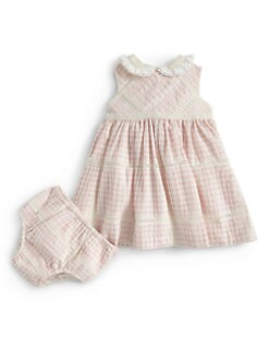 Ralph Lauren - Infant's Gingham Sundress & Bloomers Set