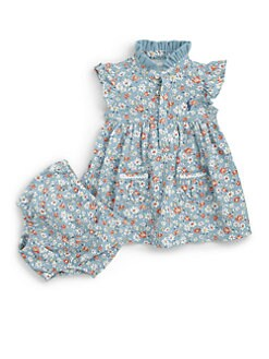 Ralph Lauren - Infant's Floral Cotton Dress & Bloomers Set