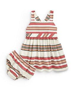 Ralph Lauren - Infant's Striped Sundress & Bloomers Set