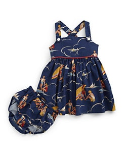 Ralph Lauren - Infant's Retro Beach Sundress & Bloomers Set