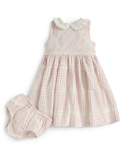 Ralph Lauren - Infant's Gingham Dress & Bloomers Set