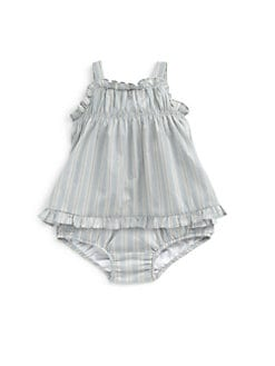 Ralph Lauren - Infant's Two-Piece Ruffled Tunic & Bloomers Set