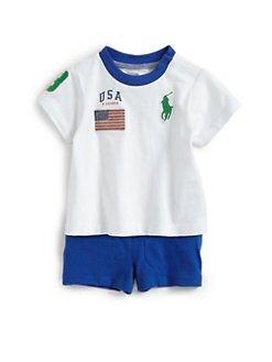 Ralph Lauren - Infant's Two-Piece Flag Tee & Shorts Set
