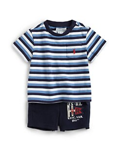 Ralph Lauren - Infant's Two-Piece Striped Tee & Shorts Set