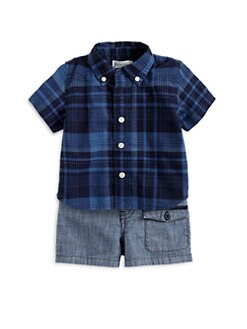 Ralph Lauren - Infant's Two-Piece Madras Plaid Shirt & Shorts Set
