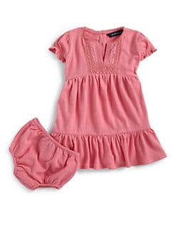 Ralph Lauren - Infant's Boho Tiered Dress & Bloomers Set