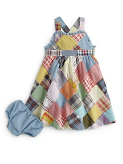 Ralph Lauren - Infant's Patchwork Maxi Dress & Bloomers Set