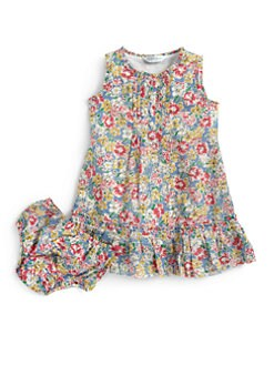 Ralph Lauren - Infant's Floral Babydoll Dress & Bloomers Set