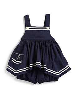 Ralph Lauren - Infant's Nautical Seersucker Tunic & Bloomers Set