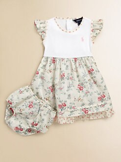 Ralph Lauren - Infant's Floral Polo Dress & Bloomers Set