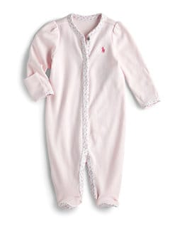 Ralph Lauren - Infant's Floral-Trim Coverall