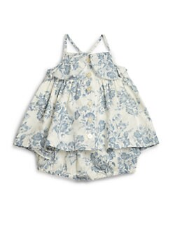Ralph Lauren - Infant's Two-Piece Floral Top & Ruffled Bloomers Set