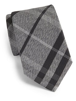 Burberry London - Check-Print Silk Tie