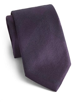Burberry London - Tonal-Check Silk Tie
