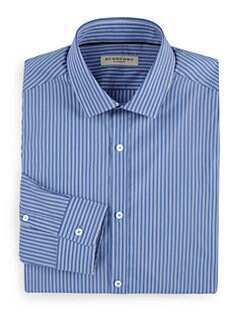 Burberry London - Double-Stripe Cotton Dress Shirt