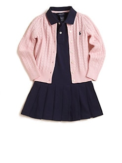 Ralph Lauren - Toddler's & Little Girl's Cabled Cotton Cardigan