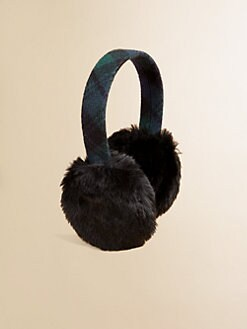 Ralph Lauren - Girl's Faux Fur Plaid Earmuffs