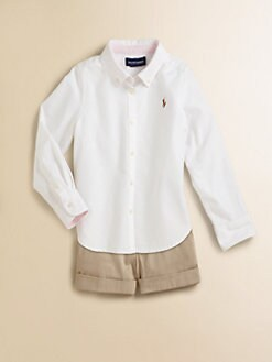 Ralph Lauren - Toddler's & Little Girl's Solid Oxford Shirt