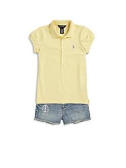 Ralph Lauren - Toddler's & Little Girl's Classic Mesh Knit Polo Shirt