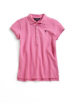 Ralph Lauren - Girl's Classic Stretch Mesh Knit Polo