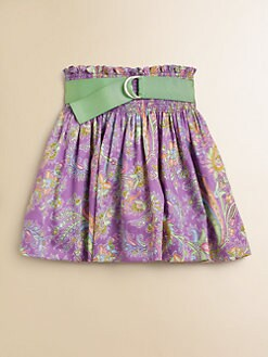 Ralph Lauren - Girl's Smocked Paisley Skirt