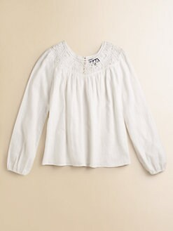 Ralph Lauren - Girl's Embroidered Cotton Top