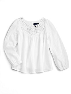 Ralph Lauren - Toddler's & Little Girl's Embroidered Blouse