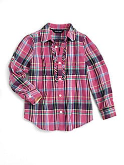 Ralph Lauren - Toddler's & Little Girl's Plaid Shirt