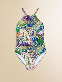 Ralph Lauren - Toddler's & Little Girl's Paisley One-Piece Swimsuit