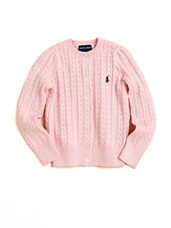 Ralph Lauren - Girl's Cabled Cotton Cardigan