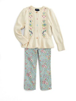 Ralph Lauren - Toddler's & Little Girl's Embroidered Cardigan