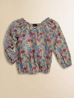 Ralph Lauren - Toddler's & Little Girl's Smocked Boatneck Top