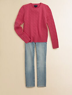 Ralph Lauren - Girl's Cable-Knit Cashmere Sweater