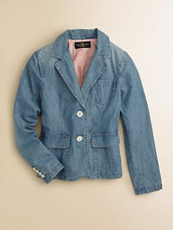Ralph Lauren - Girl's Denim Chambray Blazer