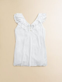 Ralph Lauren - Girl's Ruffled Flutter Top