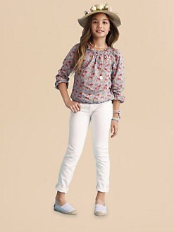 Ralph Lauren - Girl's Smocked Floral Top