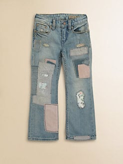 Ralph Lauren - Toddler's & Little Girl's Bootcut Patchwork Jeans