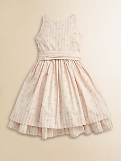 Ralph Lauren - Toddler's & Little Girl's Rose Bud Striped Dress
