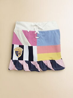 Ralph Lauren - Girl's Ruffled Patchwork Skirt