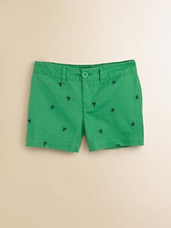 Ralph Lauren - Girl's Embroidered Chino Shorts