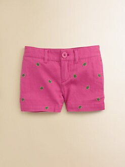 Ralph Lauren - Toddler's & Little Girl's Embroidered Chino Shorts