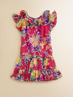 Ralph Lauren - Toddler's & Little Girl's Floral Chiffon Dress