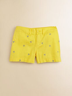 Ralph Lauren - Girl's Emrbroidered Chino Shorts