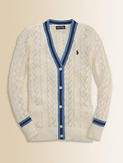 Ralph Lauren - Girl's Slouchy Cable-Knit Cardigan