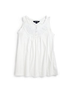 Ralph Lauren - Girl's Embroidered Tank Top